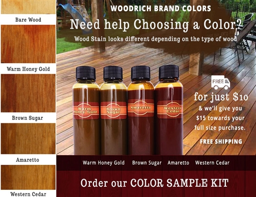 Sample Color Chart Sample Wiping Stain Color Kit Ideal For
